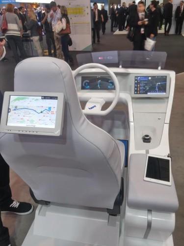 La aplicación de navegación de Nokia montada en un automovil